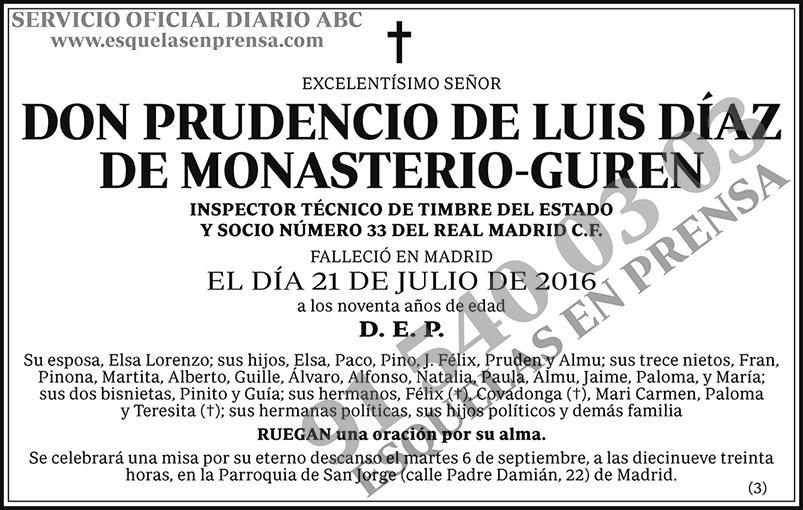 Prudencio de Luis Díaz de Monasterio-Guren